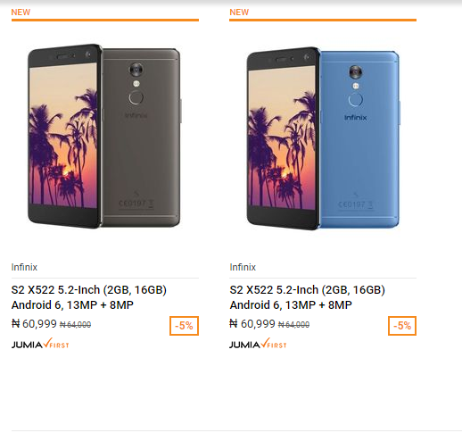 Infinix S2 on Jumia