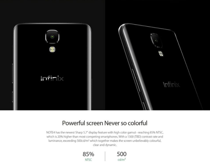 Infinix Note 4 Display