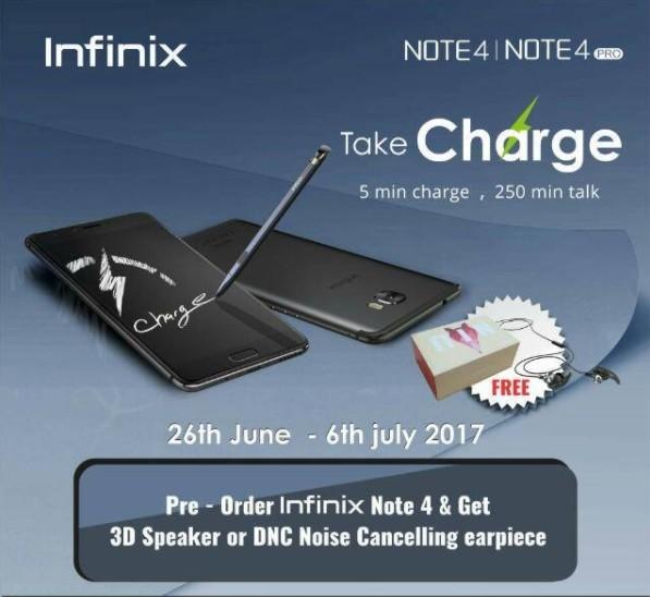 Pre-Order Infinix Note 4
