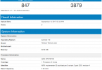 Tecno AX8 on Geekbench