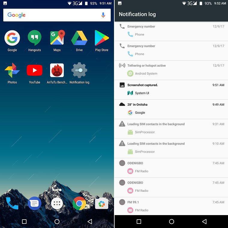 notification log on your android phone