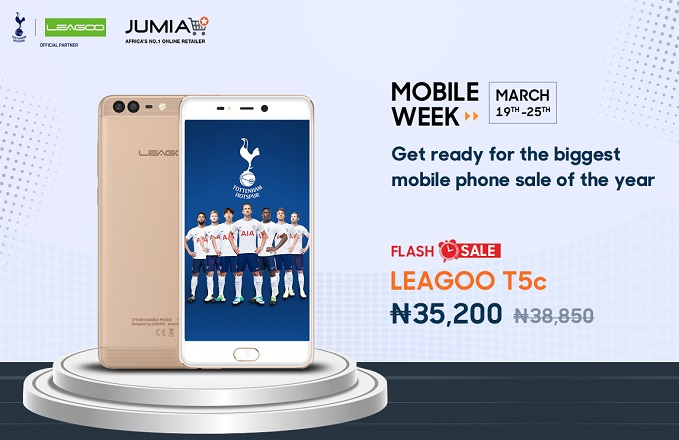 leagoo T5c on jumia mobile week