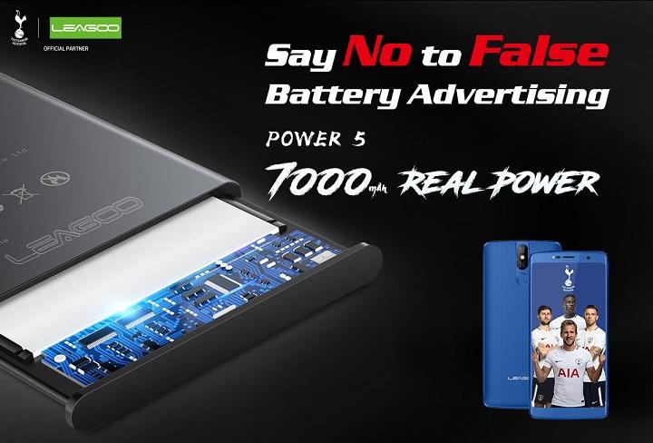 leagoo power 5 real 7000 mah battery