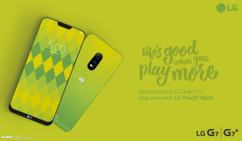 Alleged poster of the LG G7 leaks and you'll love it