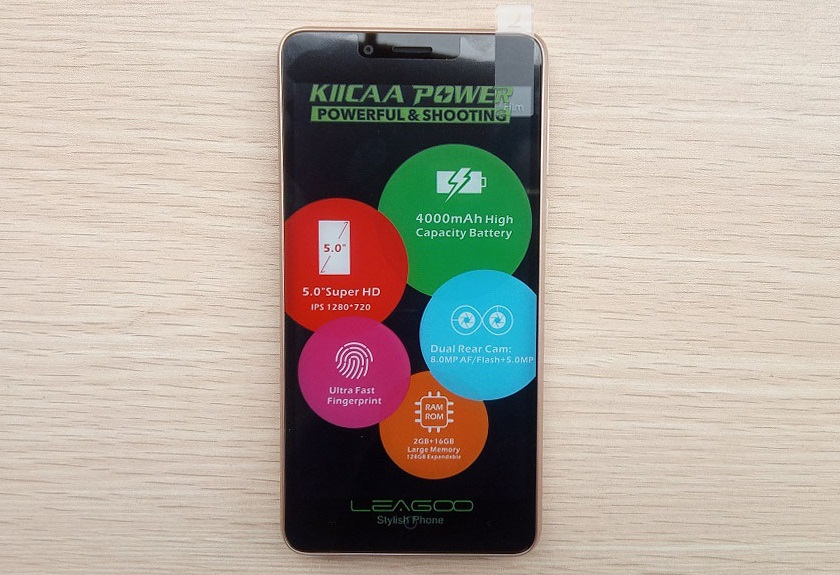 leagoo kiicaa power full screen with sticker