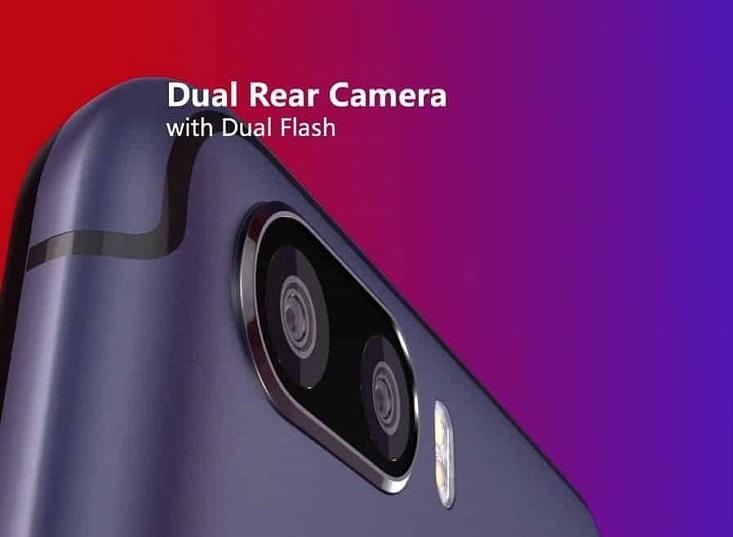 Itel P32 dual rear cameras