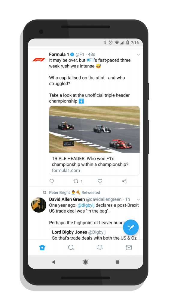 Twitter rolls out bottom navigation bar to all Android users
