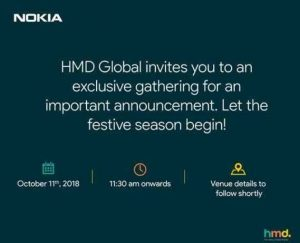 HMD Global's October 11 Launch Event