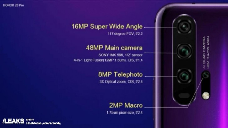 Huawei's Honor 20 might just feature 4 rear cameras