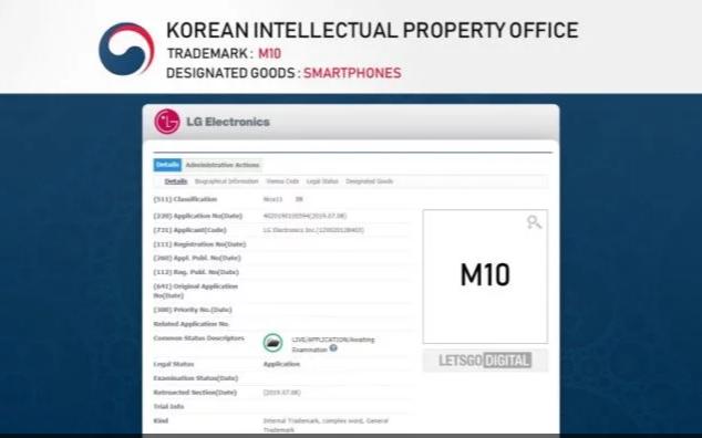 LG M10 Trademark Application