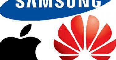 Samsung, Apple, Huawei
