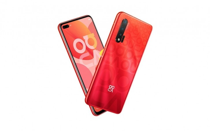 Red Huawei Nova 6 leaked render