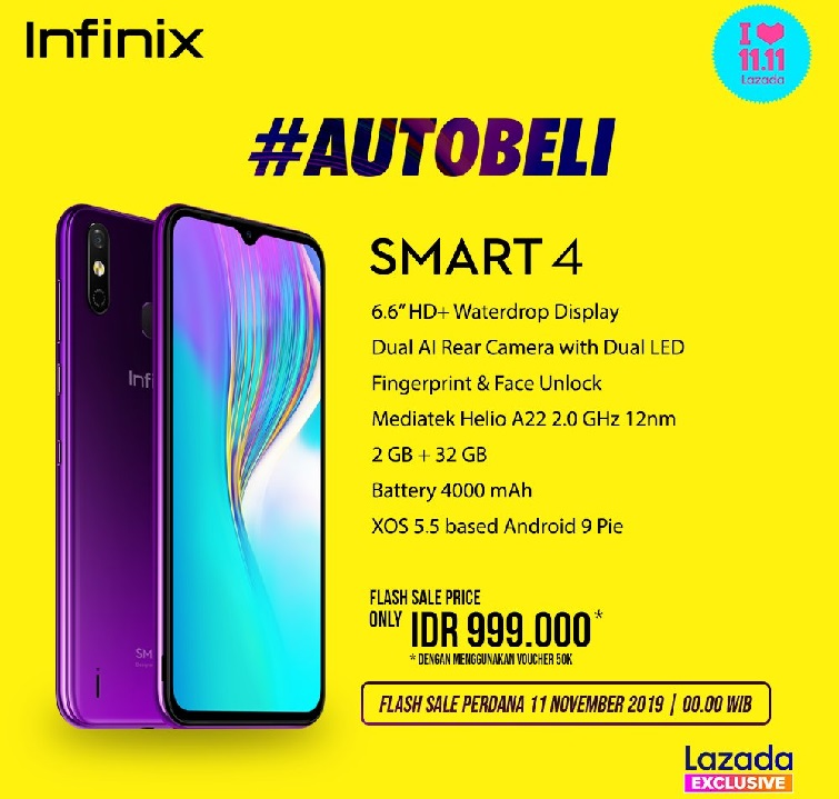 infinix smart 4 launching specs image