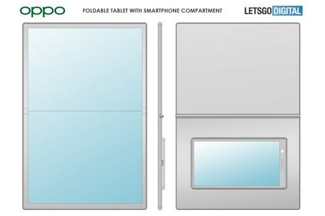 oppo releases patent for folding screen device2