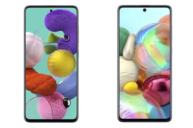 Samsung Galaxy A51, Samsung Galaxy A71