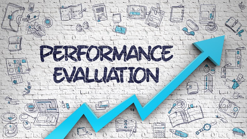 Performance Evaluation Drawn on Brick Wall.