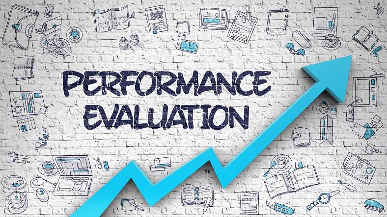 Performance Evaluation Drawn on Brick Wall.